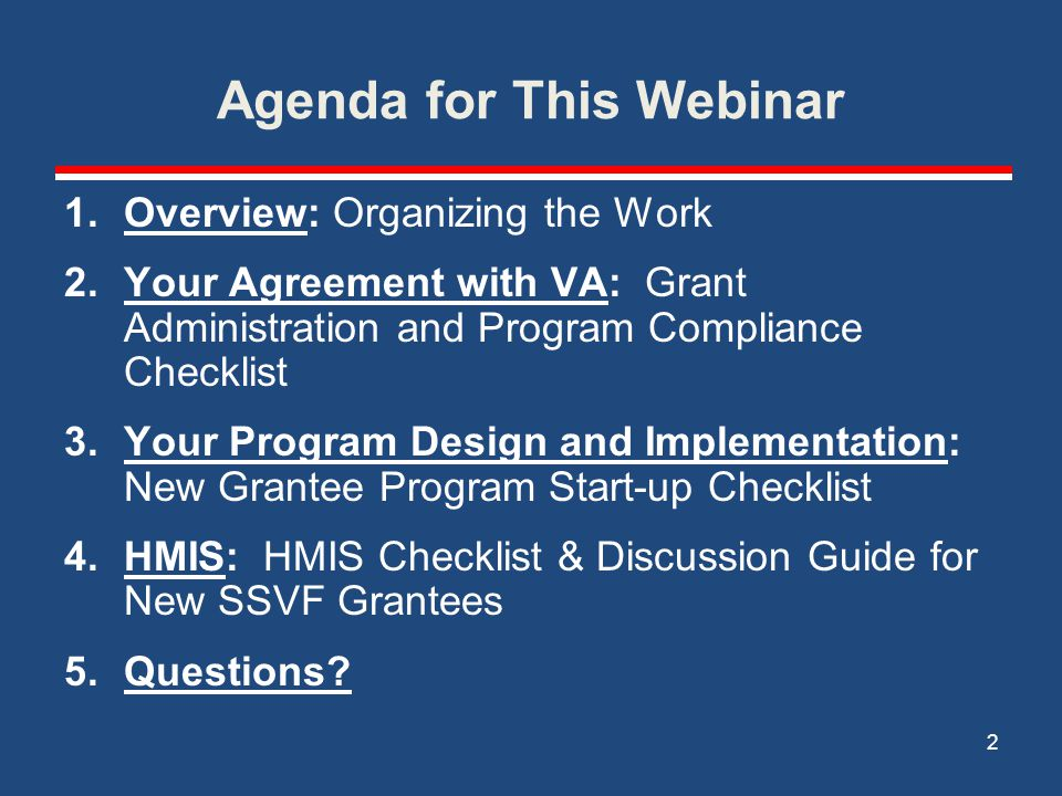 Agenda for This Webinar