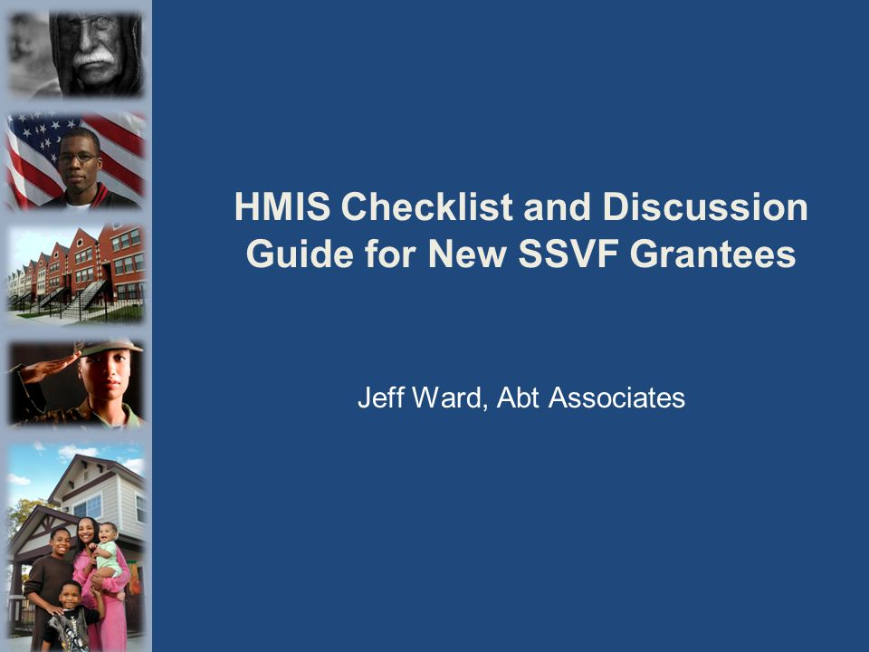 HMIS Checklist and Discussion Guide for New SSVF Grantees