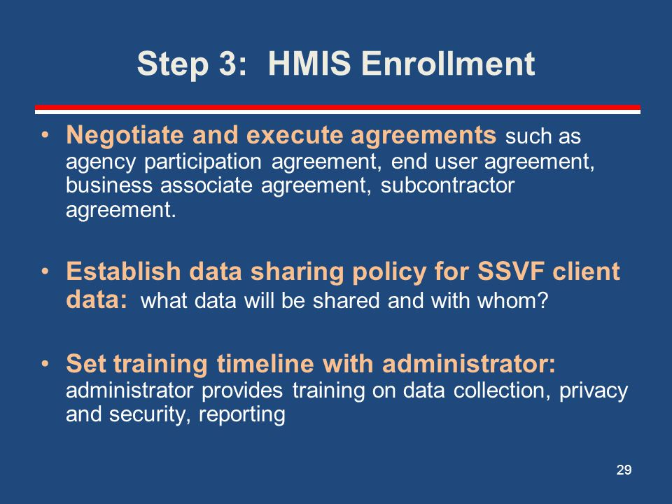 Step 3: HMIS Enrollment