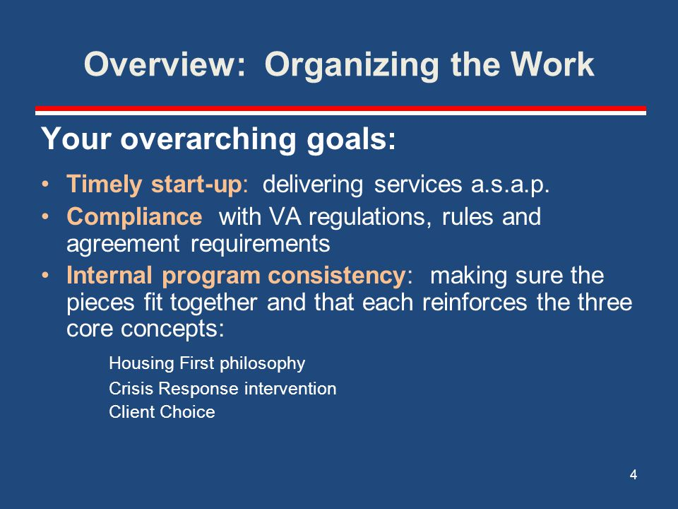 Overview: Organizing the Work