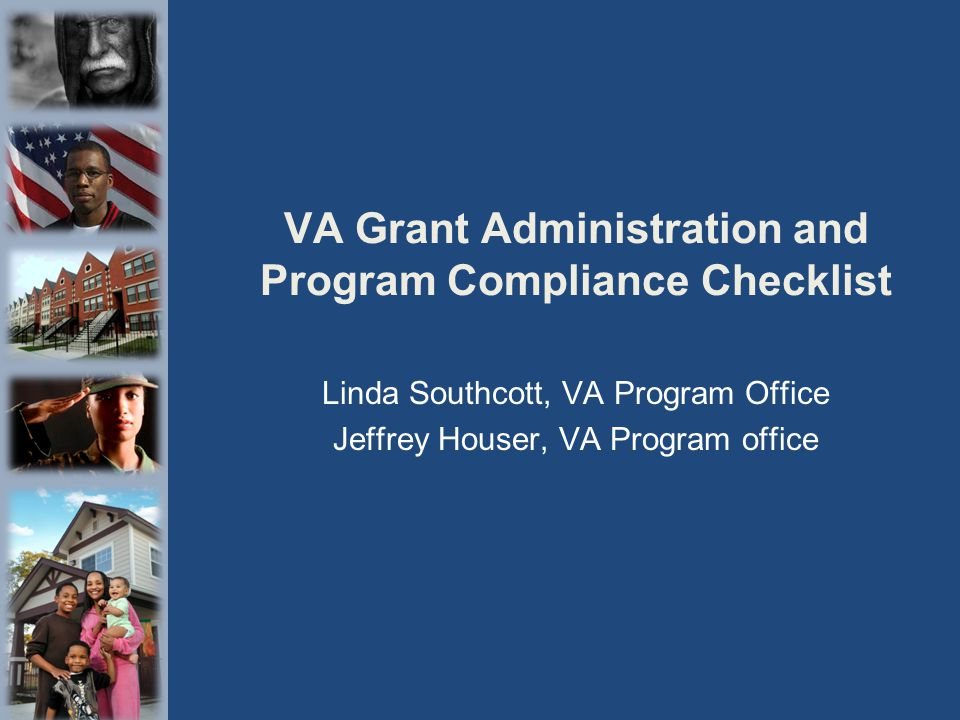 VA Grant Administration and Program Compliance Checklist