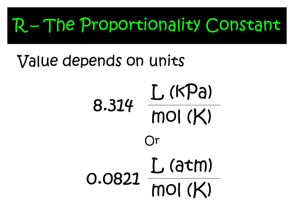 R – The Proportionality Constant