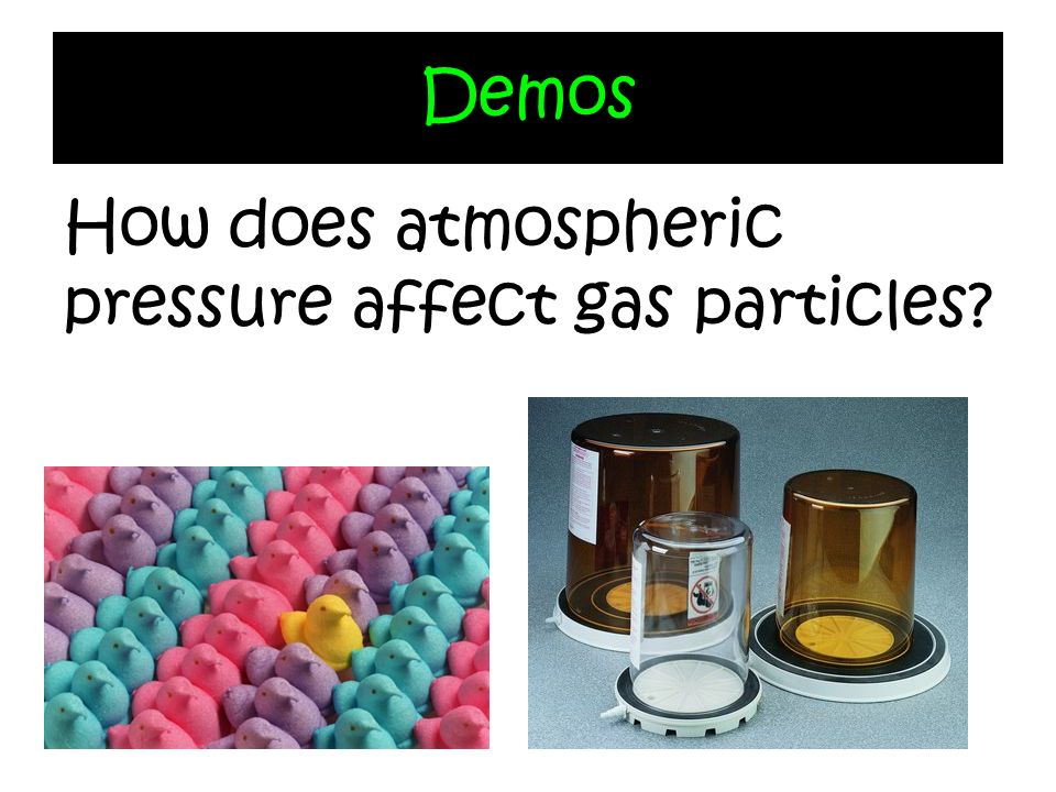 Demos How does atmospheric pressure affect gas particles