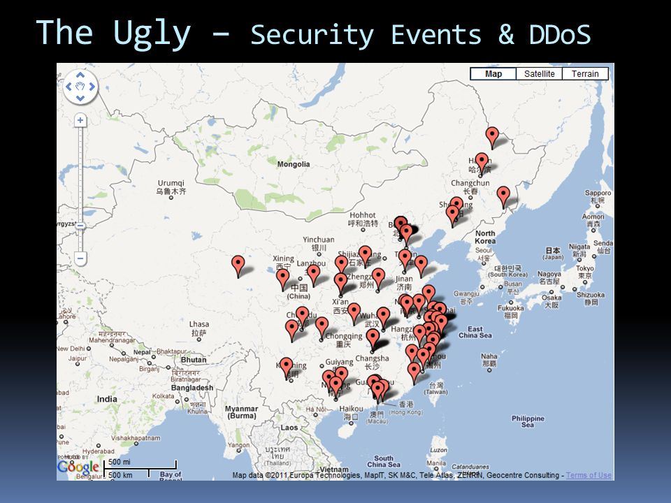 The Ugly – Security Events & DDoS
