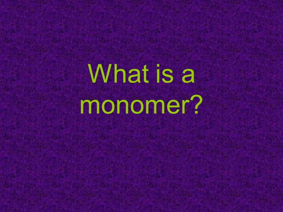 What is a monomer