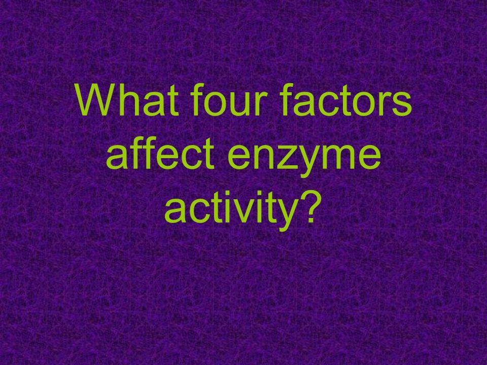 What four factors affect enzyme activity