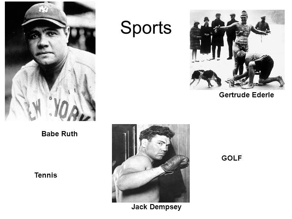 Sports Gertrude Ederle Babe Ruth GOLF Tennis Jack Dempsey