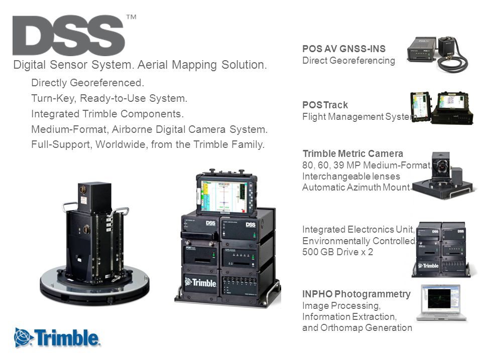 Digital Sensor System. Aerial Mapping Solution.