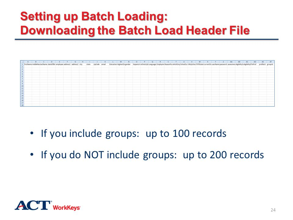Setting up Batch Loading: Downloading the Batch Load Header File