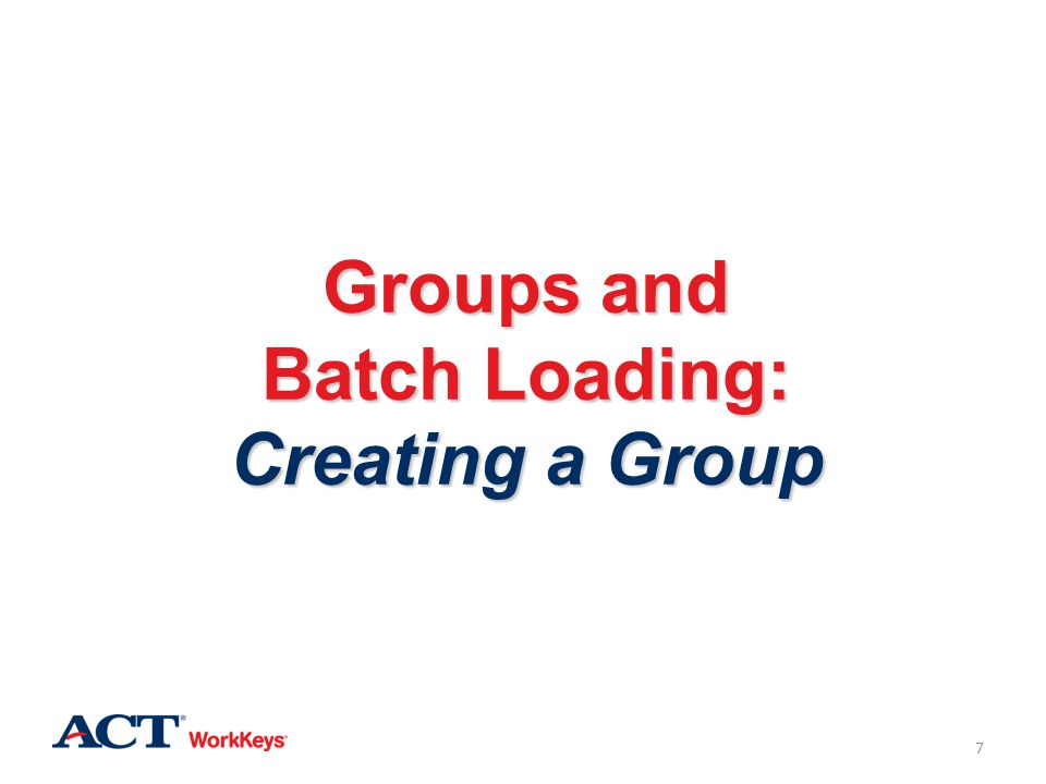 Groups and Batch Loading: Creating a Group