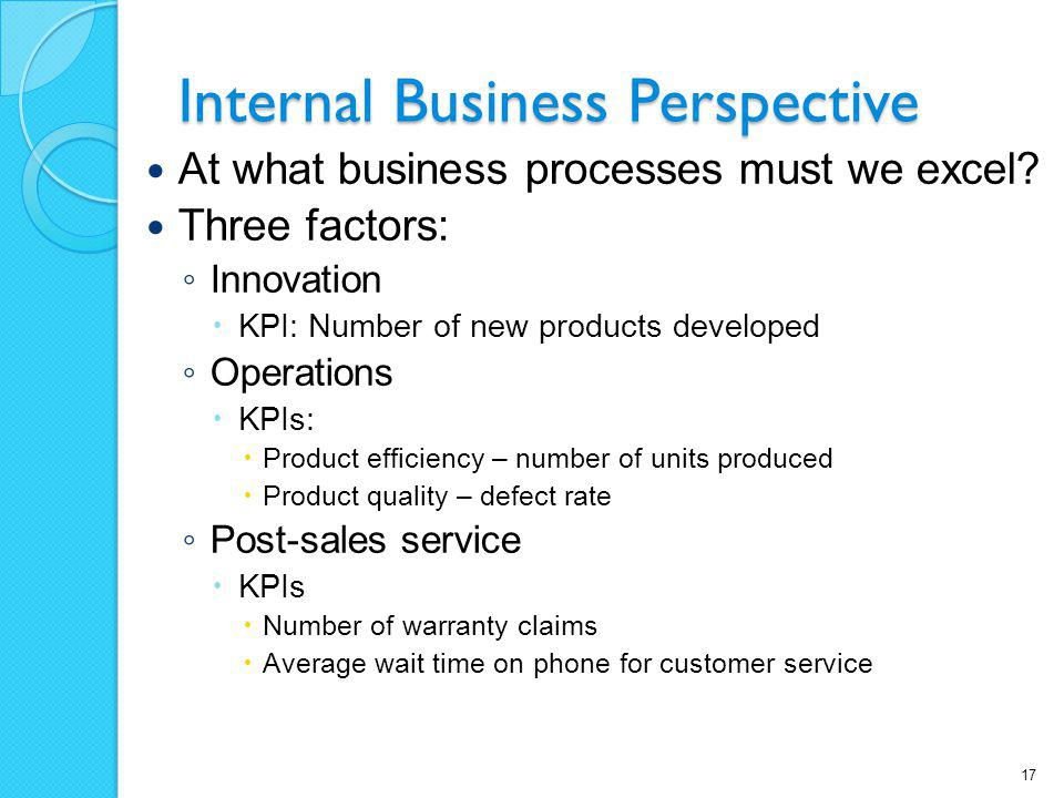 Internal Business Perspective
