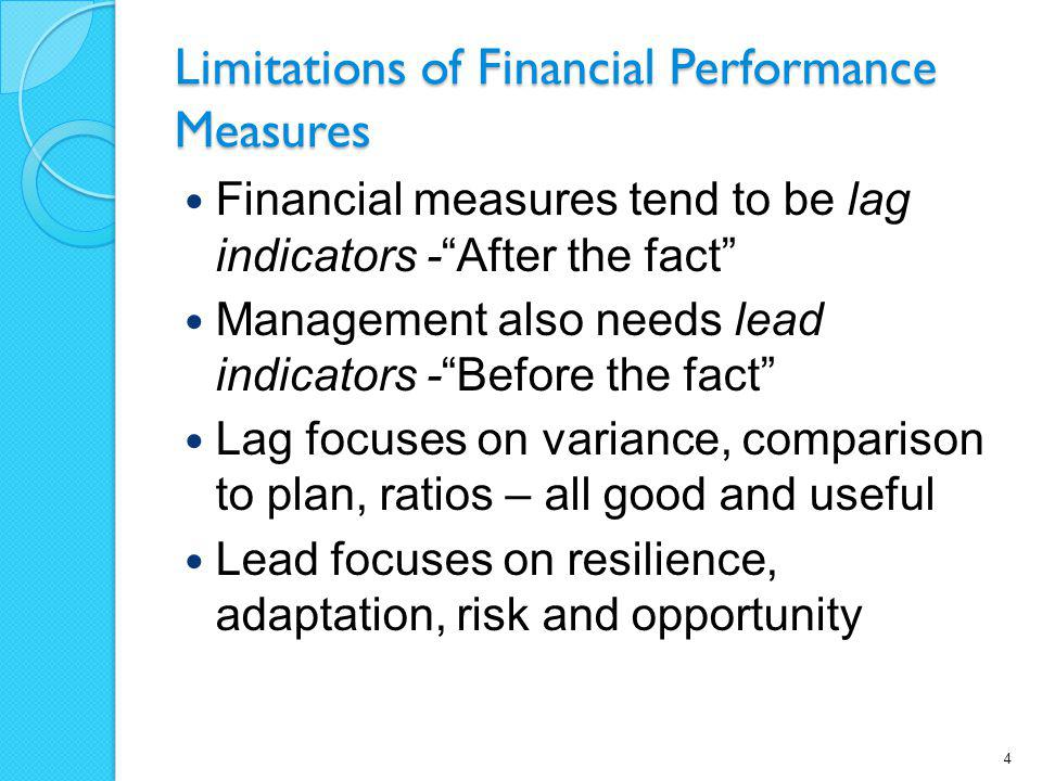 Limitations of Financial Performance Measures
