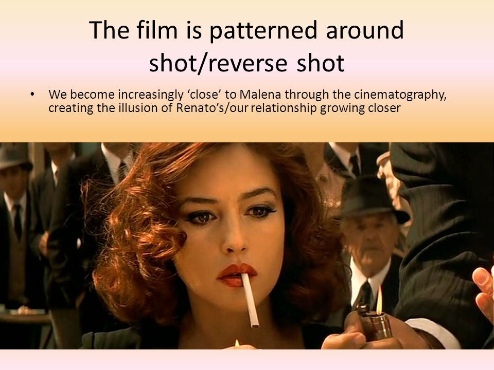 The film is patterned around shot/reverse shot