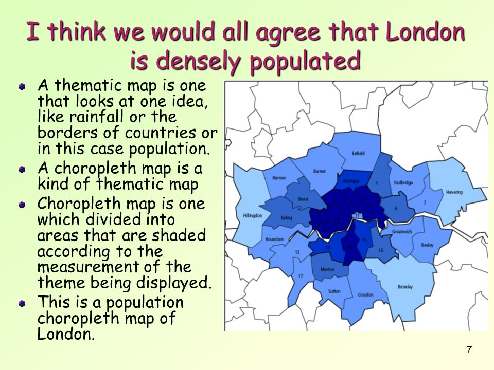 I think we would all agree that London is densely populated
