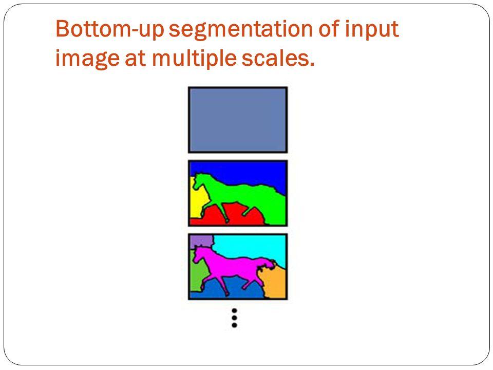 Bottom-up segmentation of input image at multiple scales.