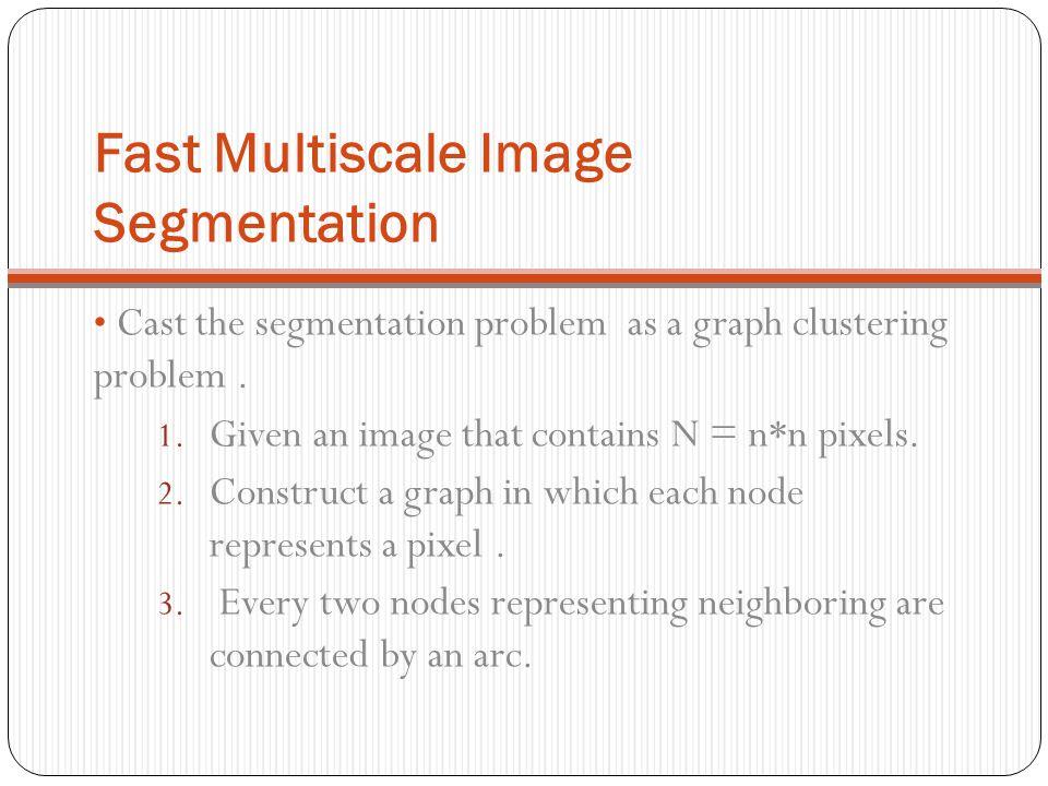 Fast Multiscale Image Segmentation