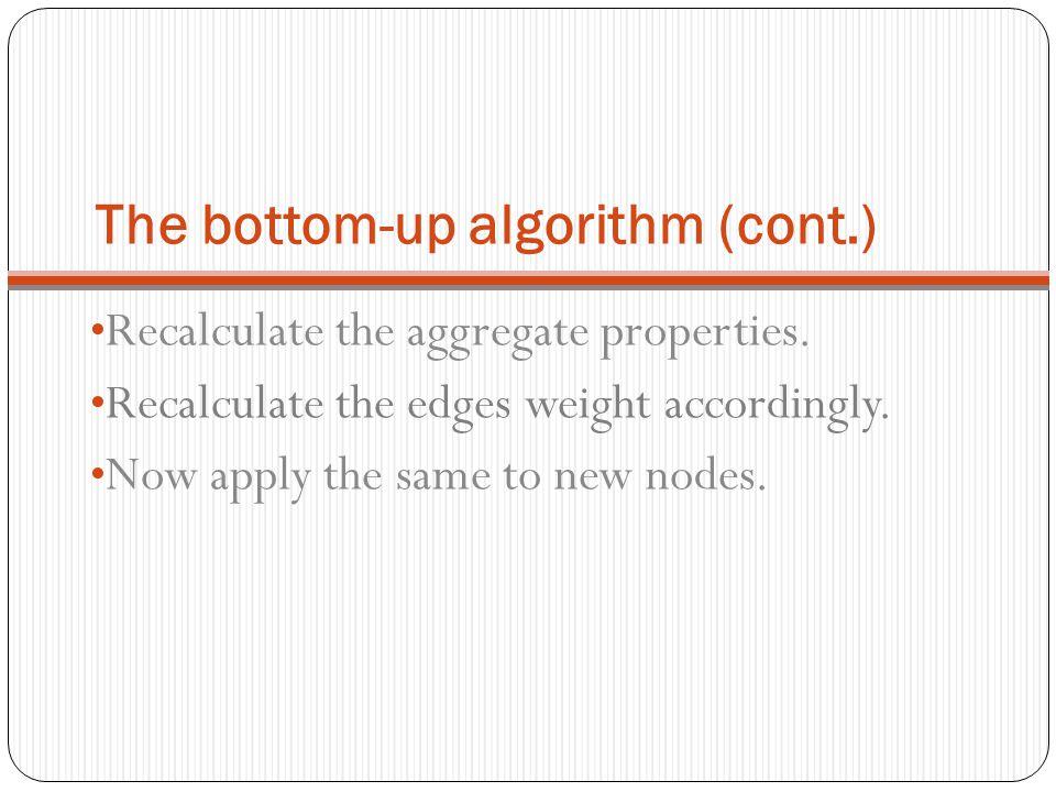 The bottom-up algorithm (cont.)