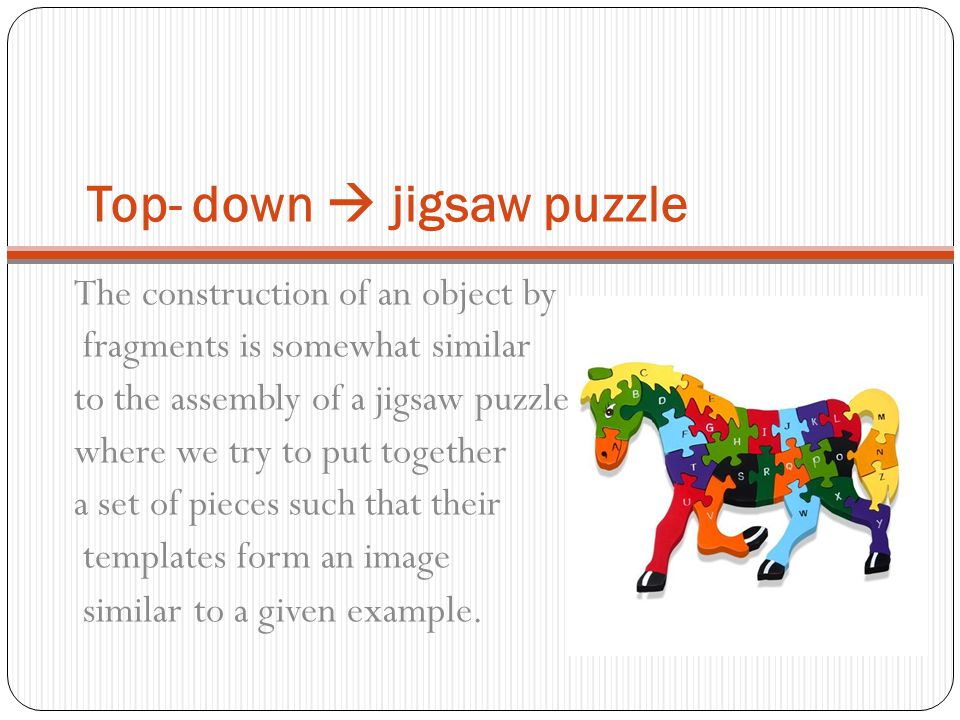 Top- down  jigsaw puzzle