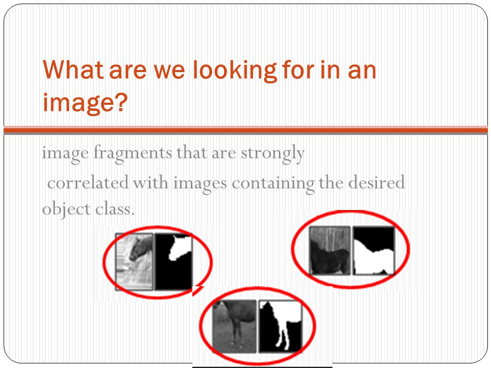 What are we looking for in an image