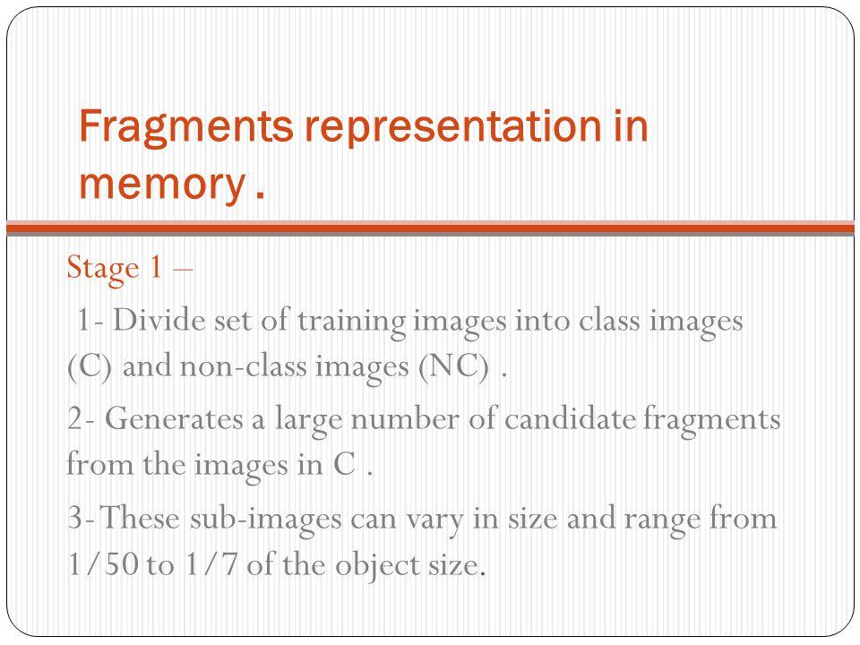 Fragments representation in memory .