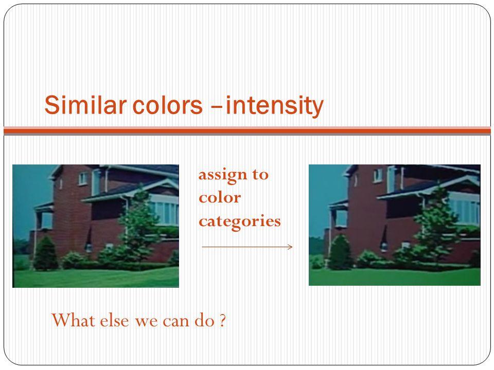 Similar colors –intensity