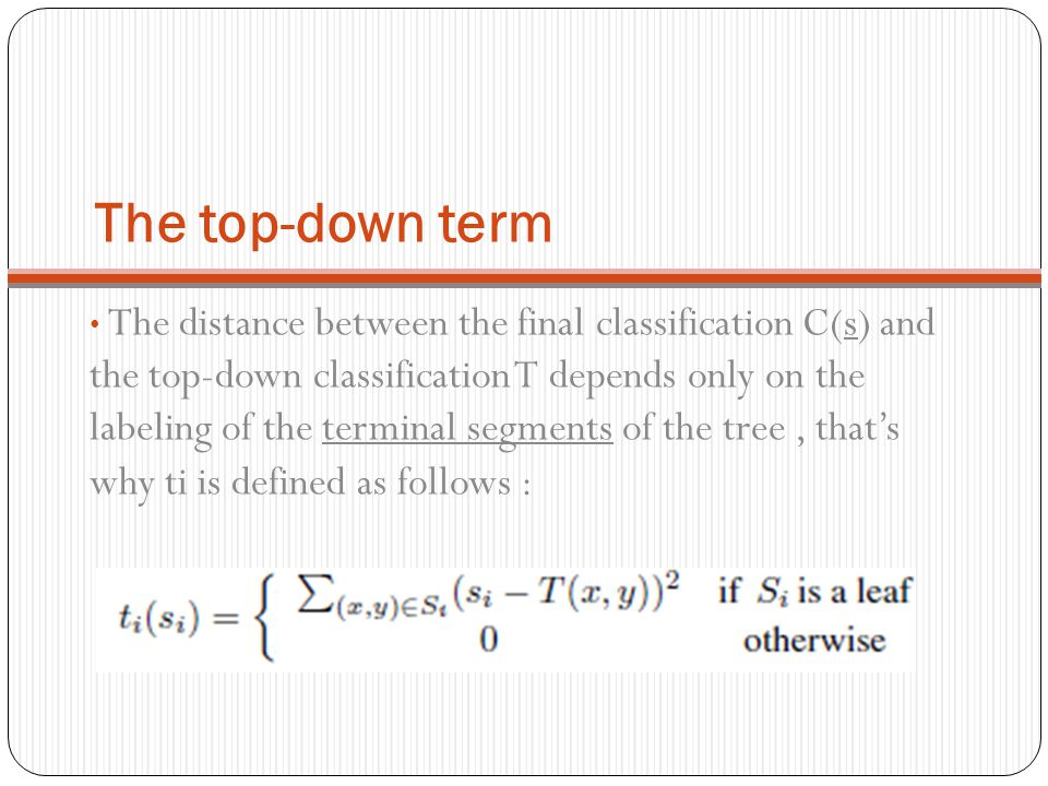The top-down term