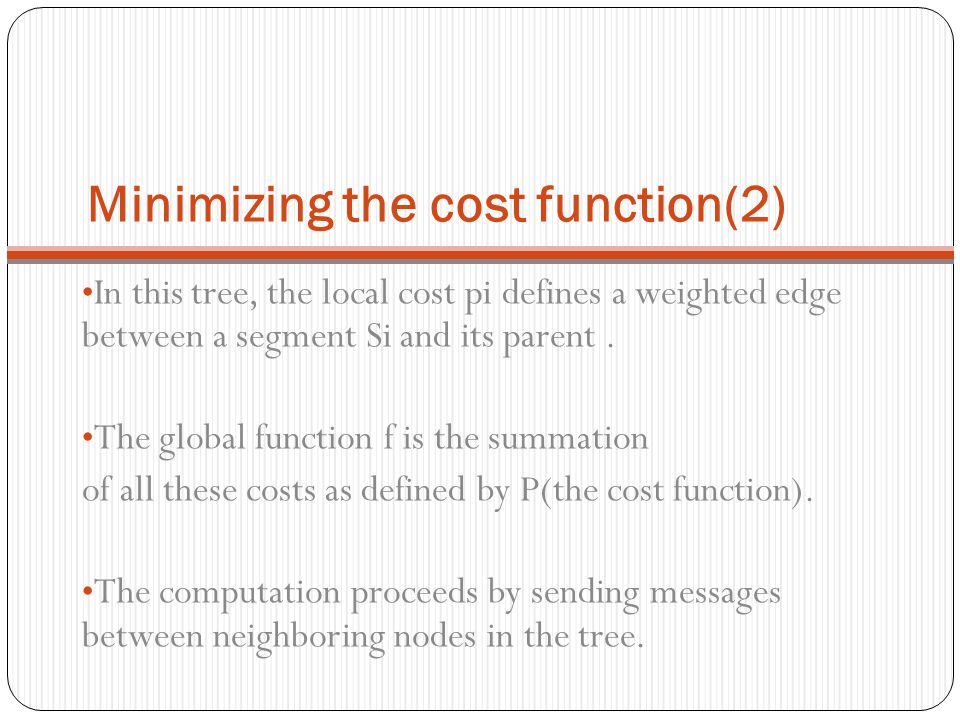 Minimizing the cost function(2)
