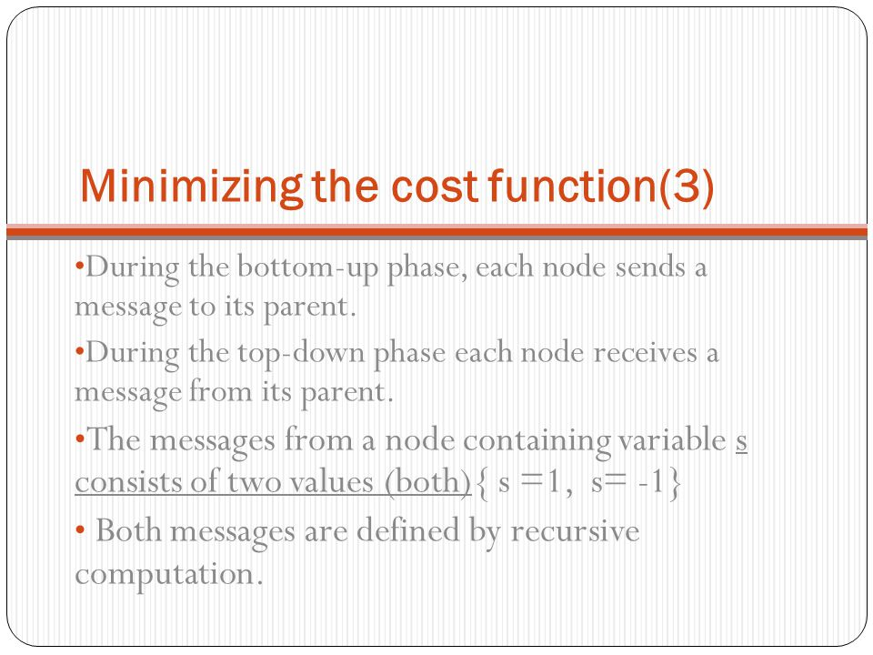 Minimizing the cost function(3)