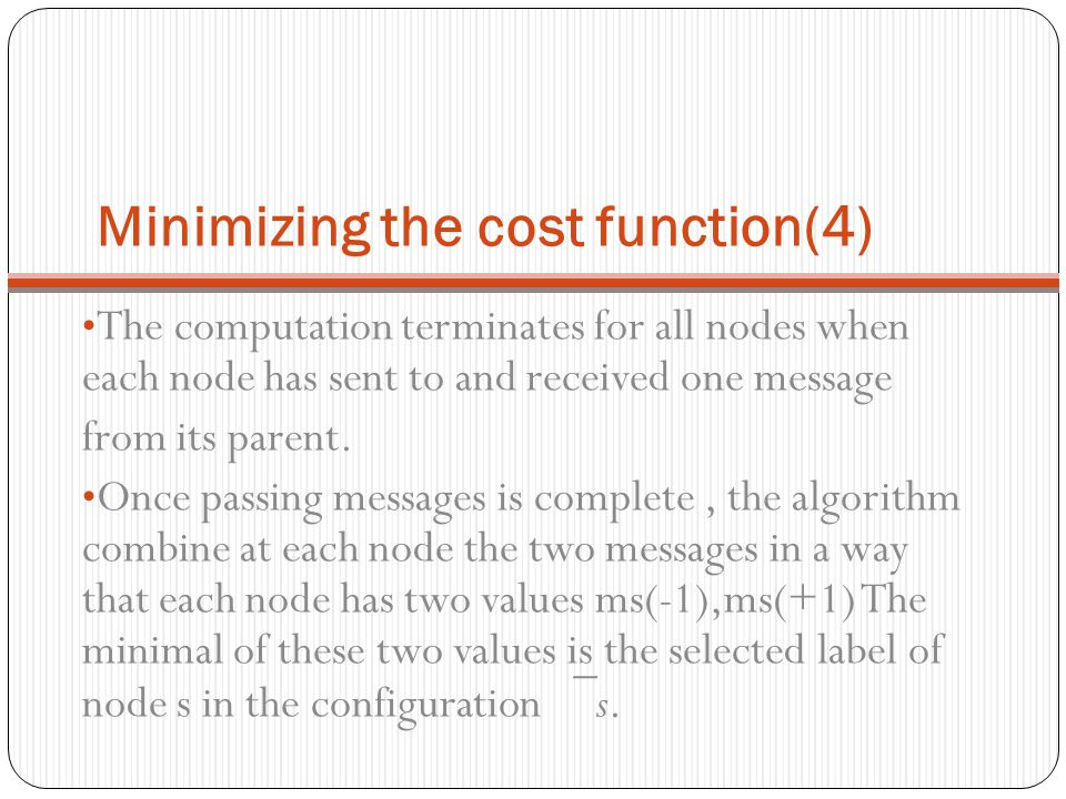 Minimizing the cost function(4)