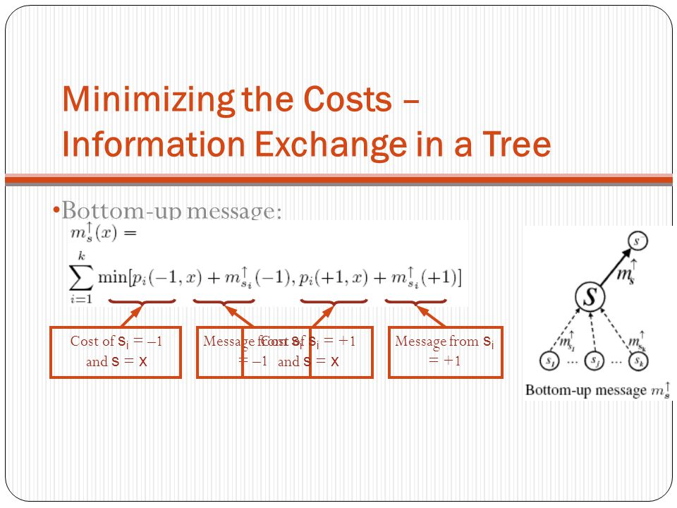 Minimizing the Costs – Information Exchange in a Tree