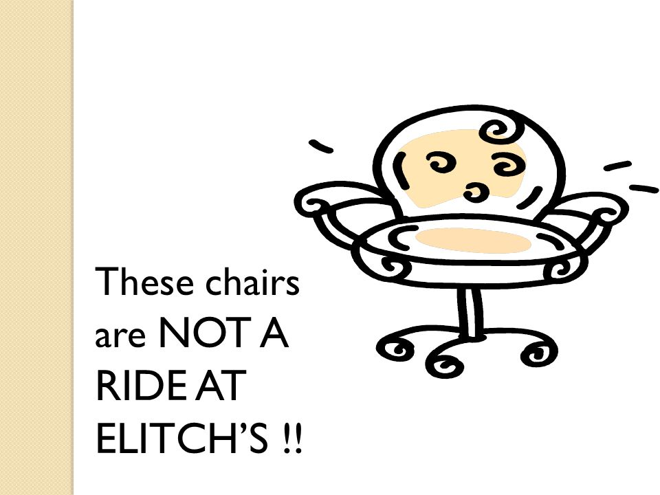 These chairs are NOT A RIDE AT ELITCH'S !!