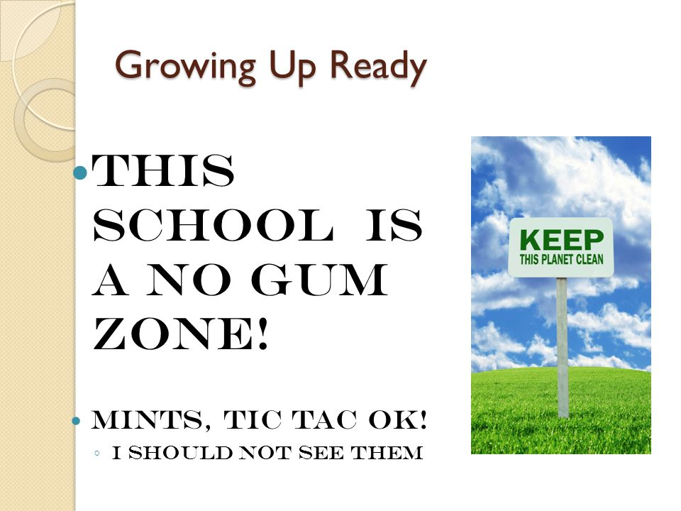 This School is a No Gum Zone!