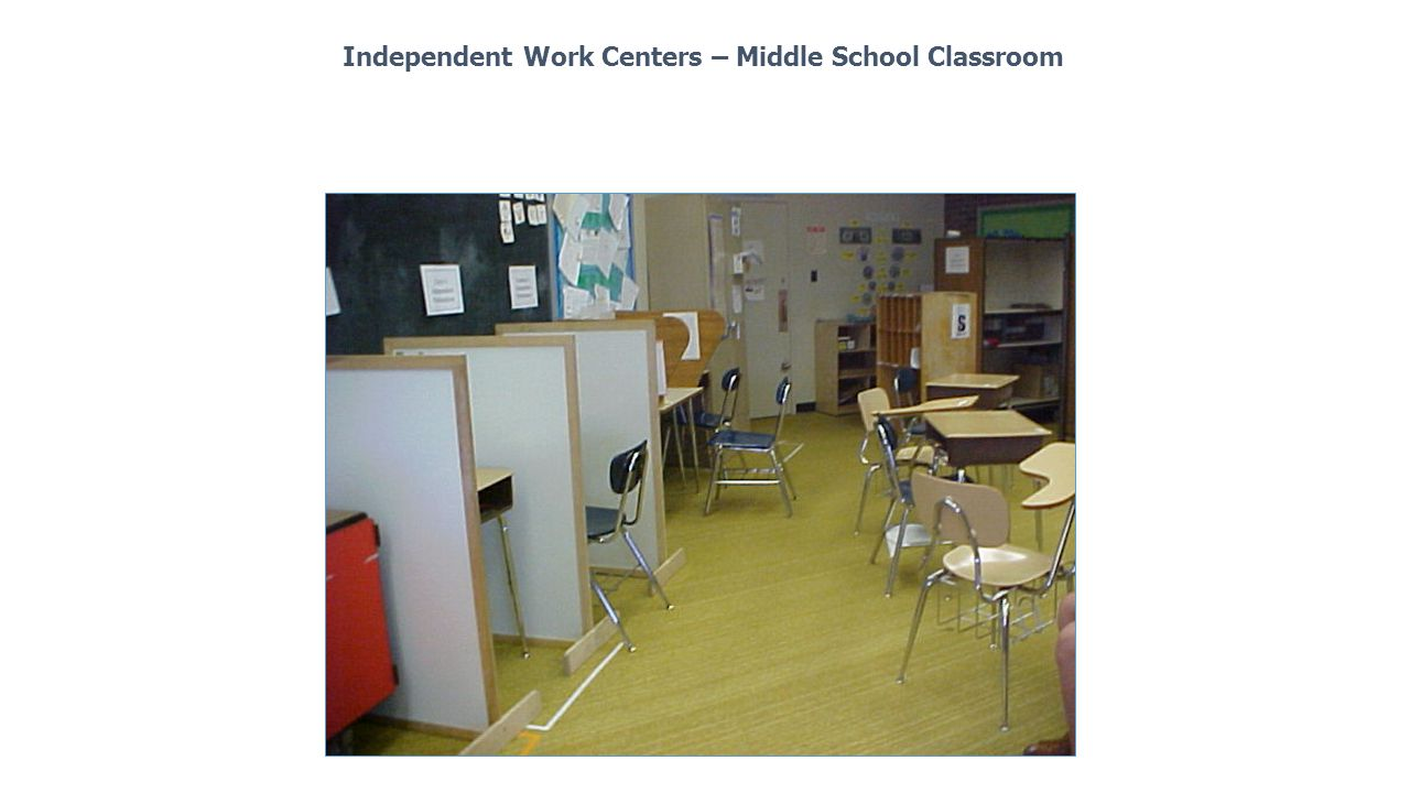 Independent Work Centers – Middle School Classroom