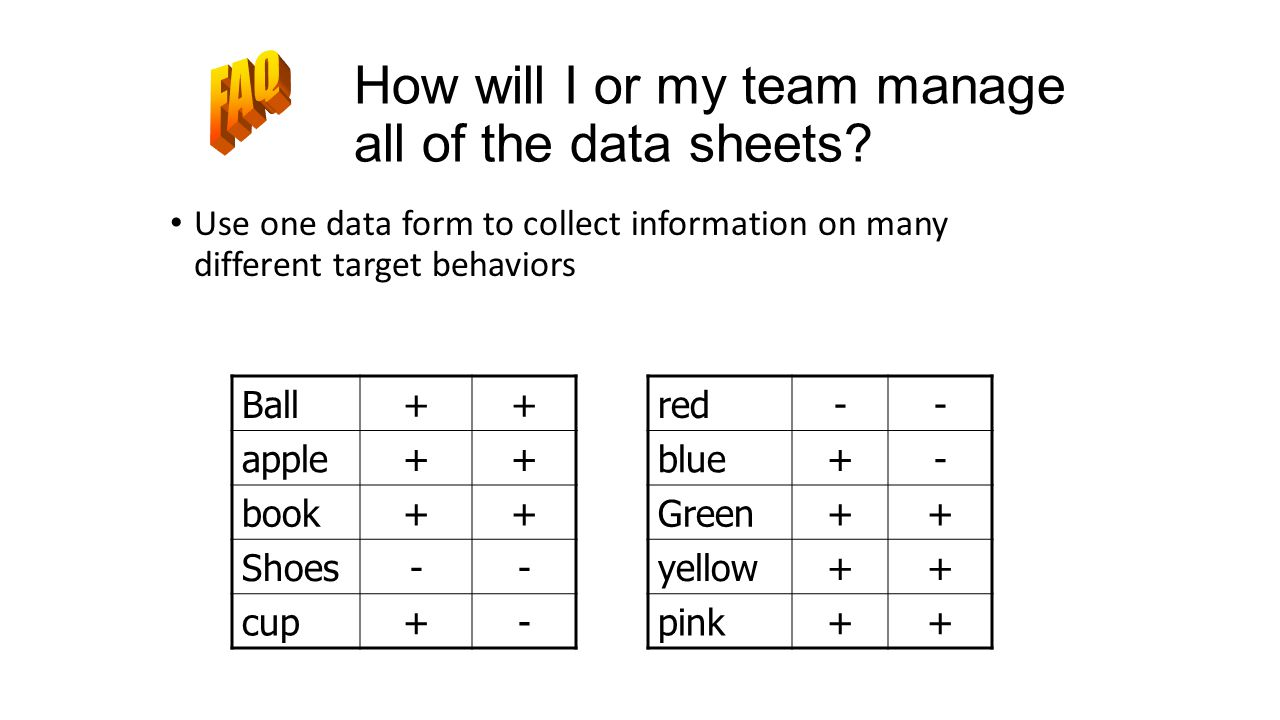 How will I or my team manage all of the data sheets