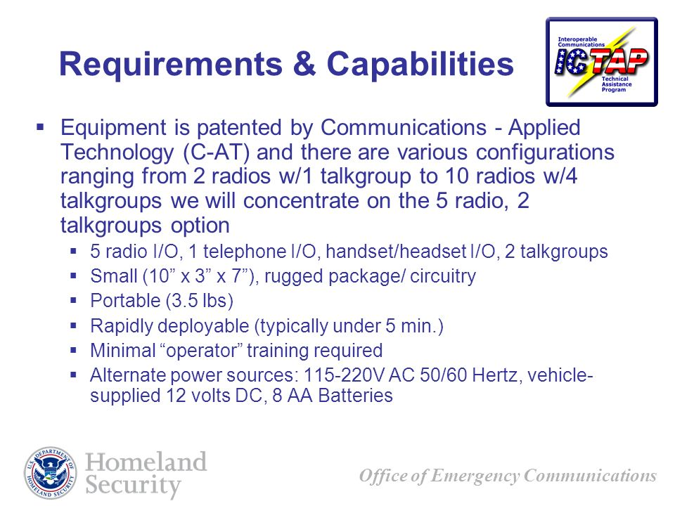 Requirements & Capabilities