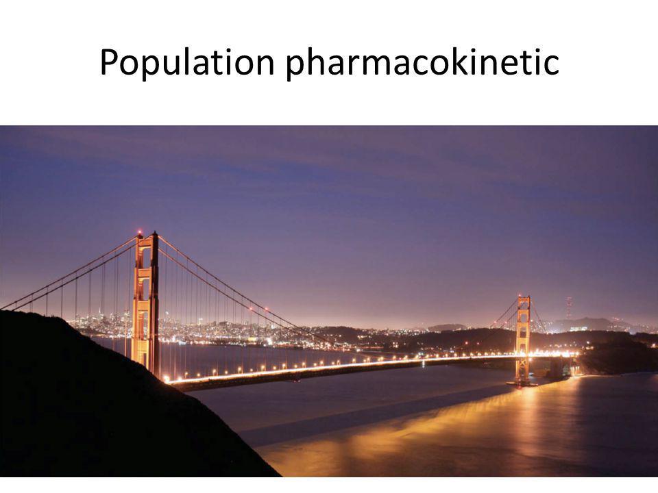 Population pharmacokinetic