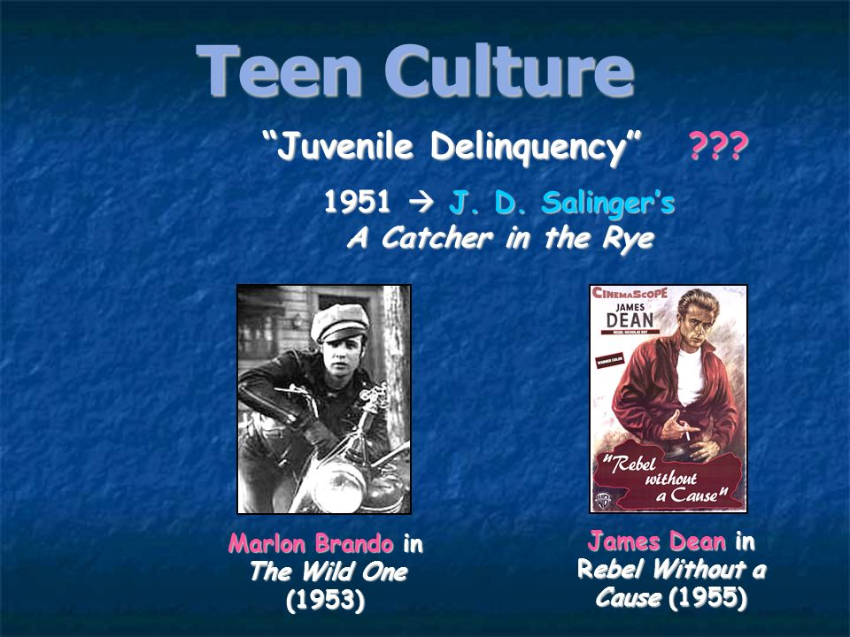Teen Culture Juvenile Delinquency