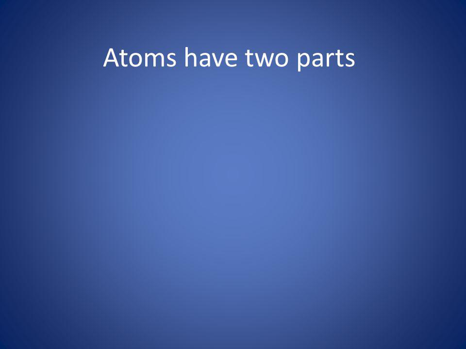 Atoms have two parts