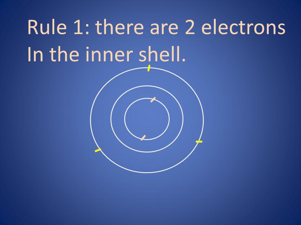 Rule 1: there are 2 electrons