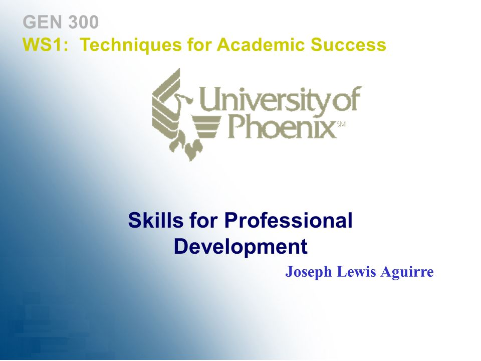Skills for Professional Development