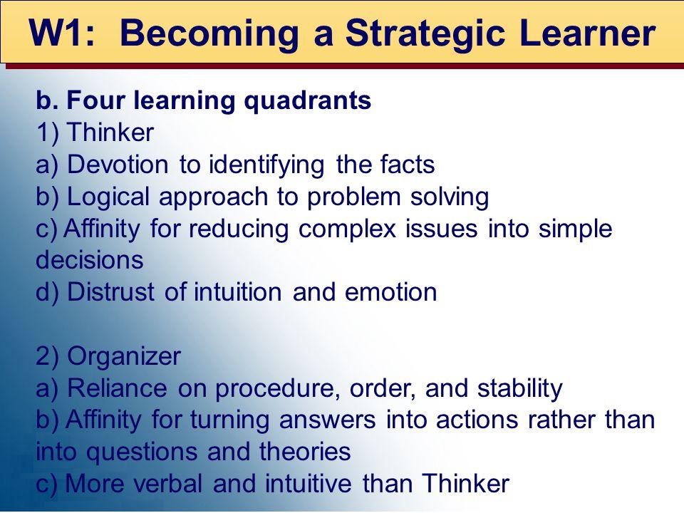 W1: Becoming a Strategic Learner