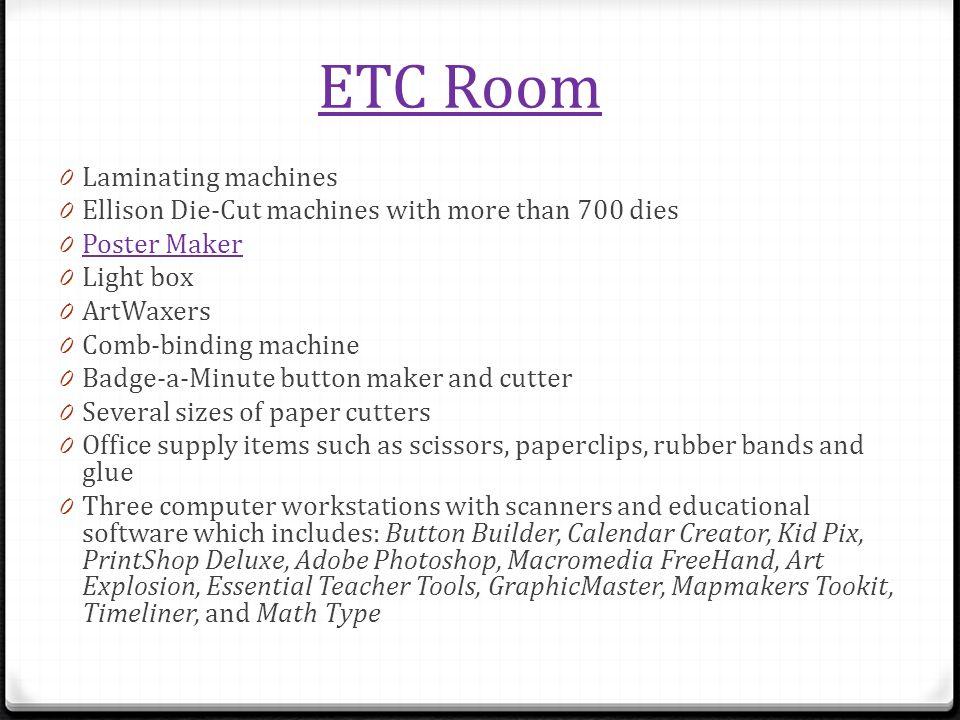 ETC Room Laminating machines