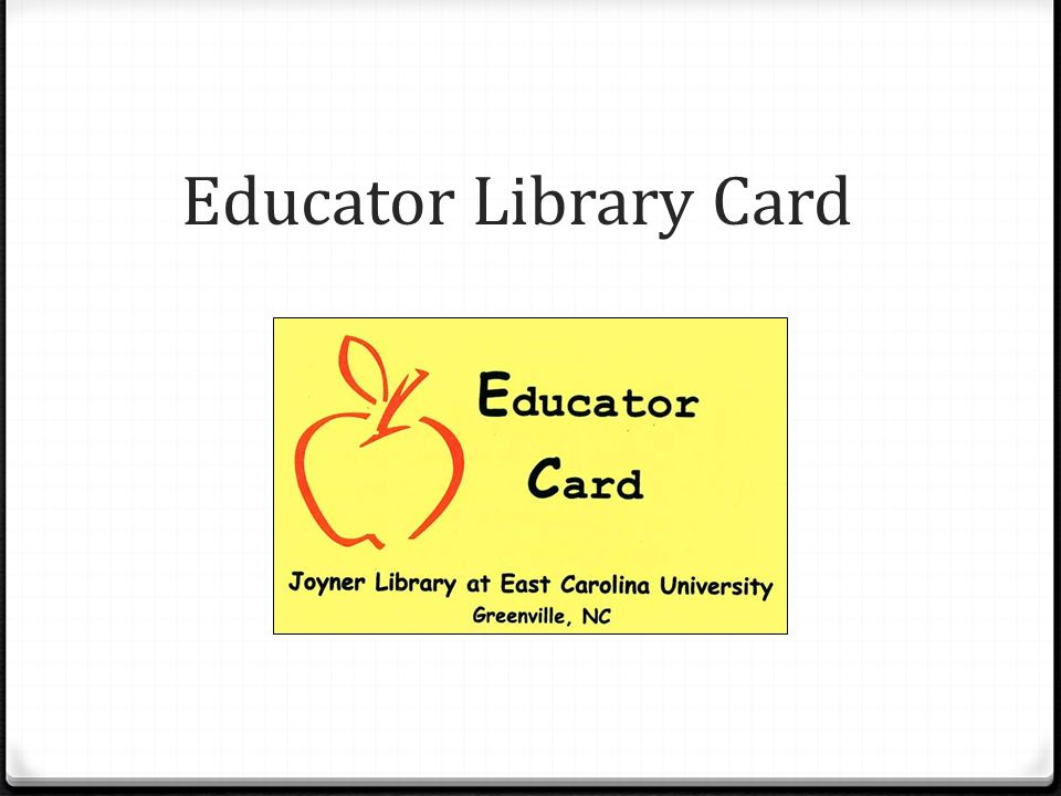 Educator Library Card