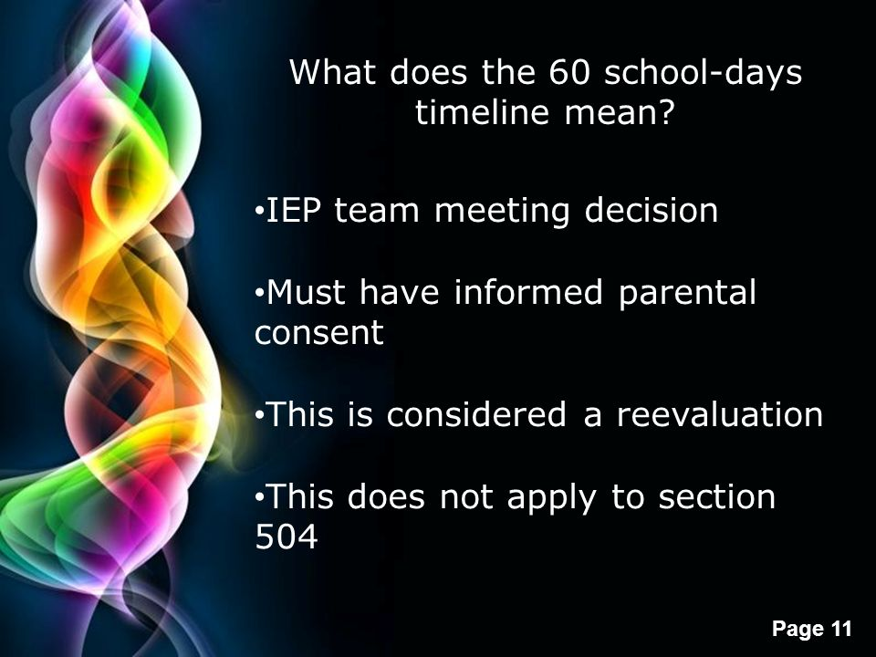 What does the 60 school-days timeline mean