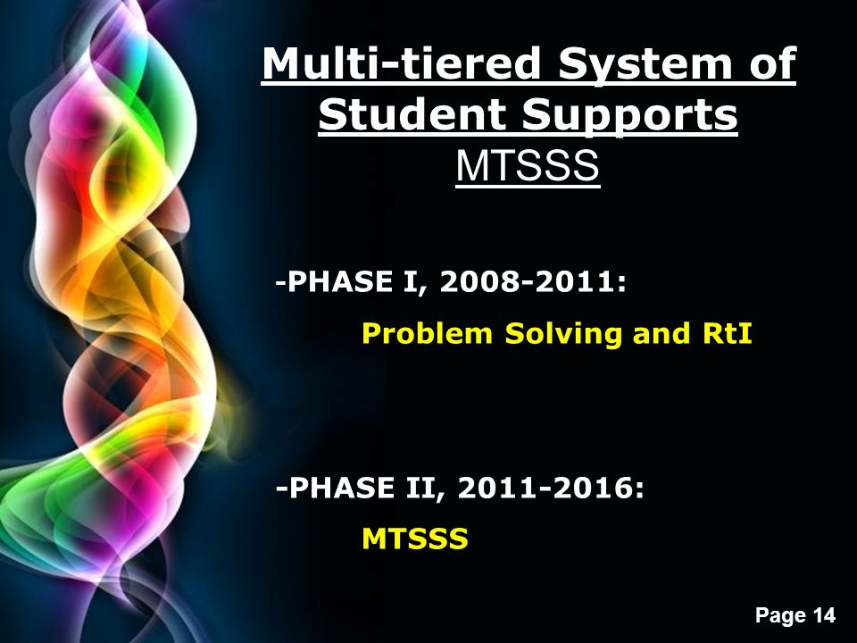 Multi-tiered System of Student Supports