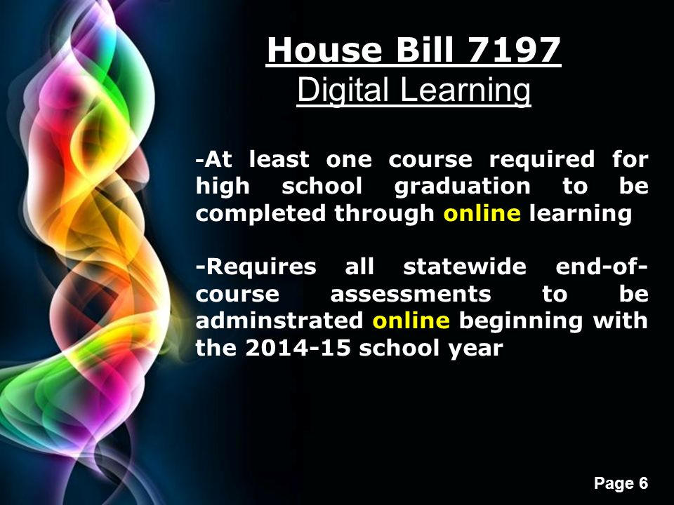 House Bill 7197 Digital Learning