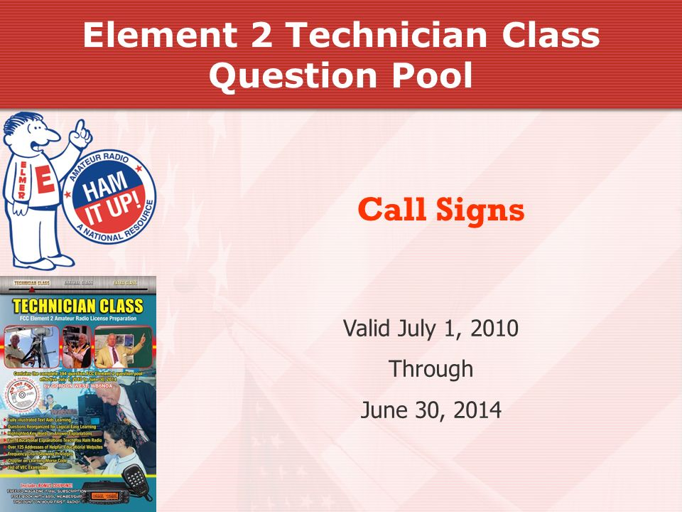 Element 2 Technician Class Question Pool
