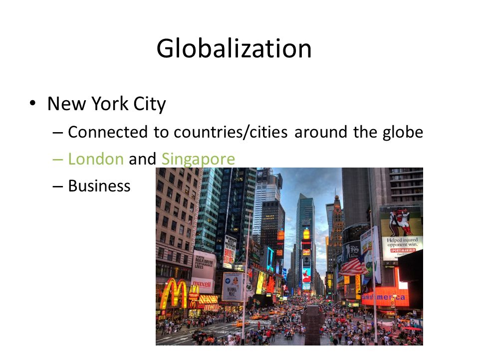 Globalization New York City