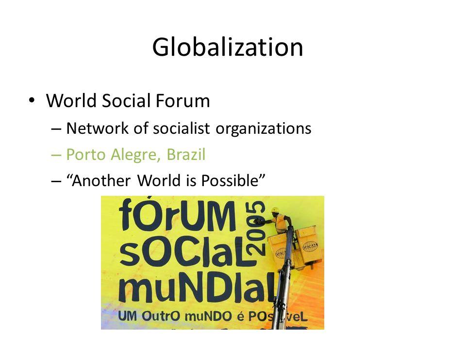 Globalization World Social Forum Network of socialist organizations