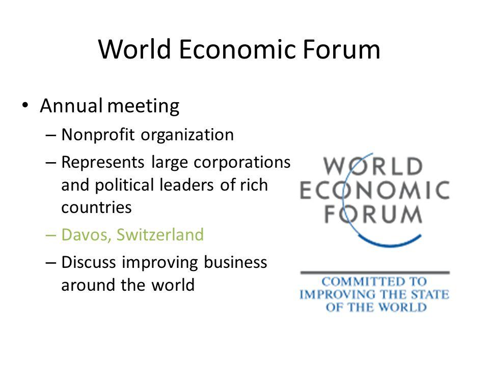 World Economic Forum Annual meeting Nonprofit organization